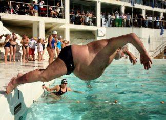havuza atlama