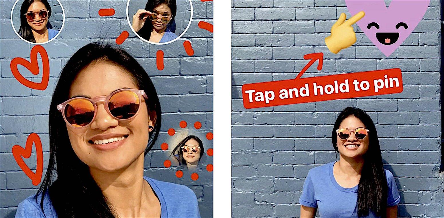 instagram sticker selfie