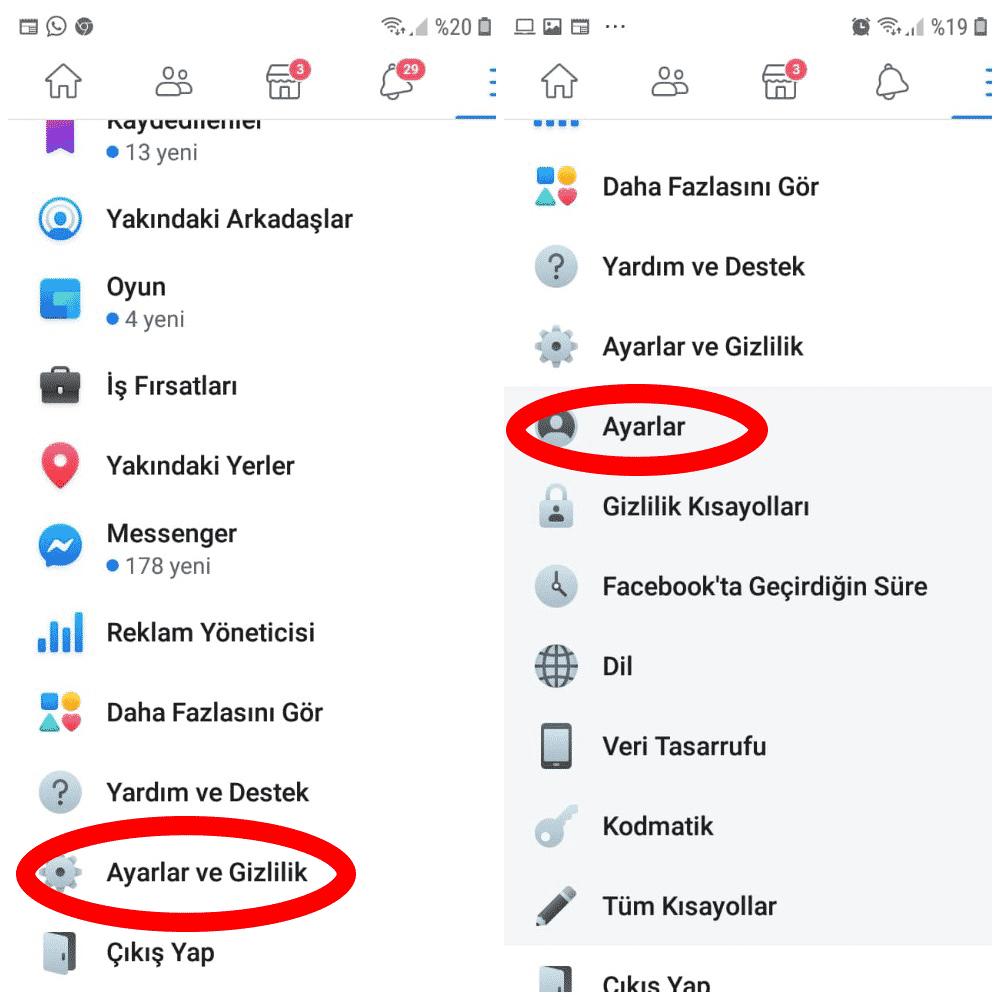 Facebook Otomatik Oynatma Kapatma