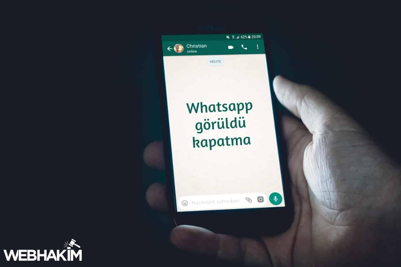 Whatsapp Görüldü Kapatma