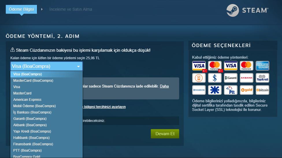 steamdan kredi kartsız oyun nasıl satın alınır