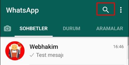 whatsapp mesaj arama