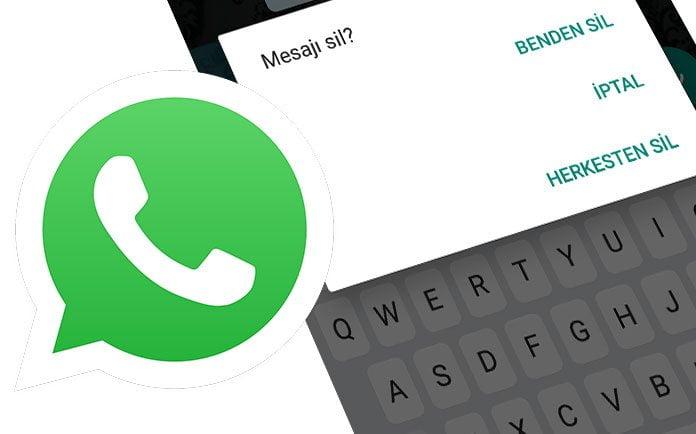 WhatsApp Gönderilen Mesajı Silme