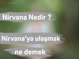nirvana ne demek