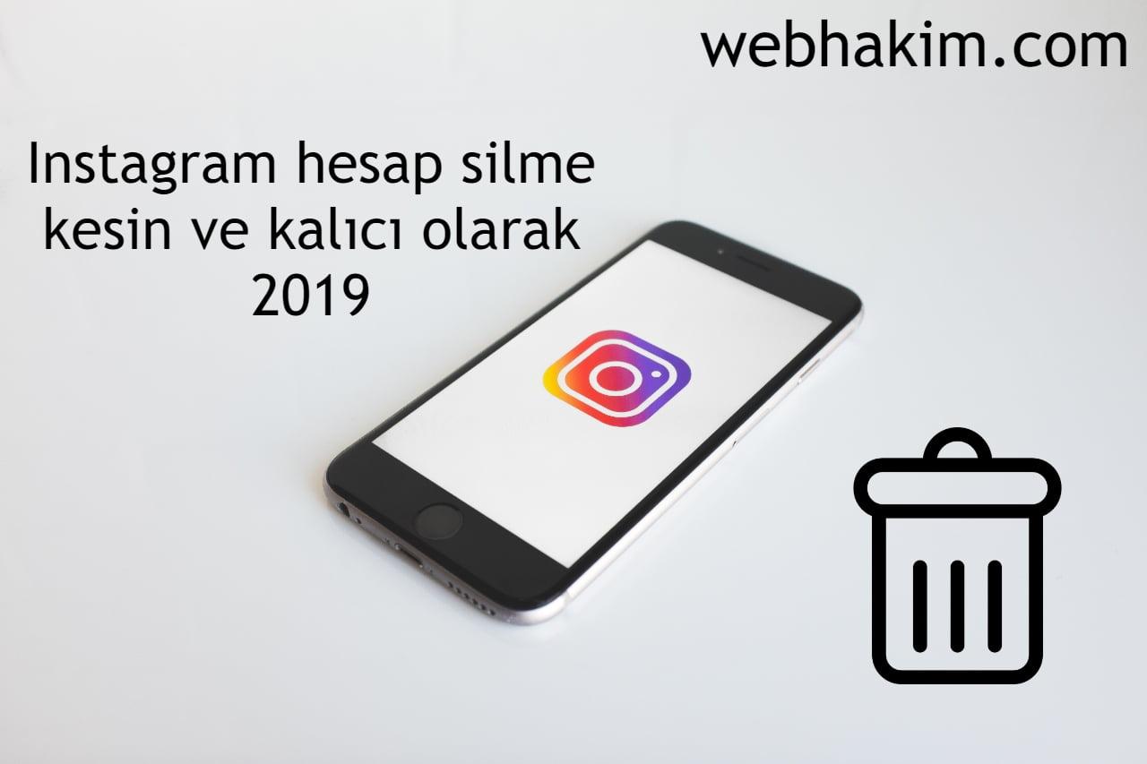 instagram hesap silme