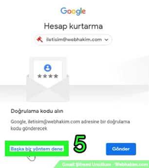 google mail şifre değiştirme