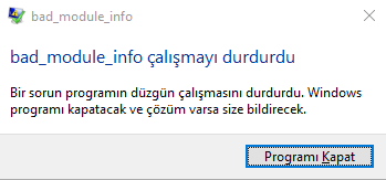 bad module_info pubg