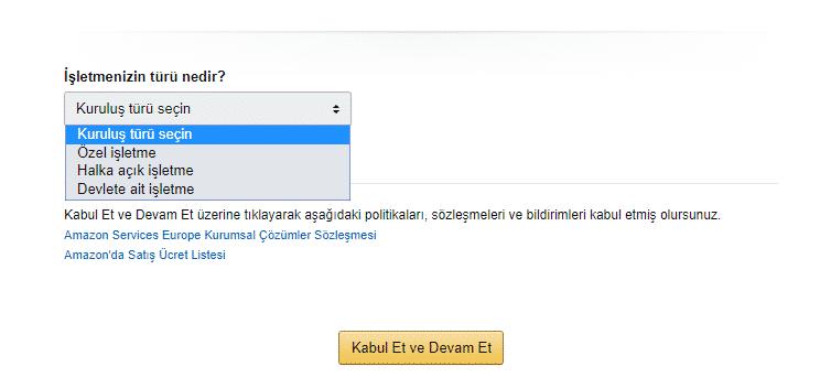 Amazon Türkiye Satıcı Hesabı Aç