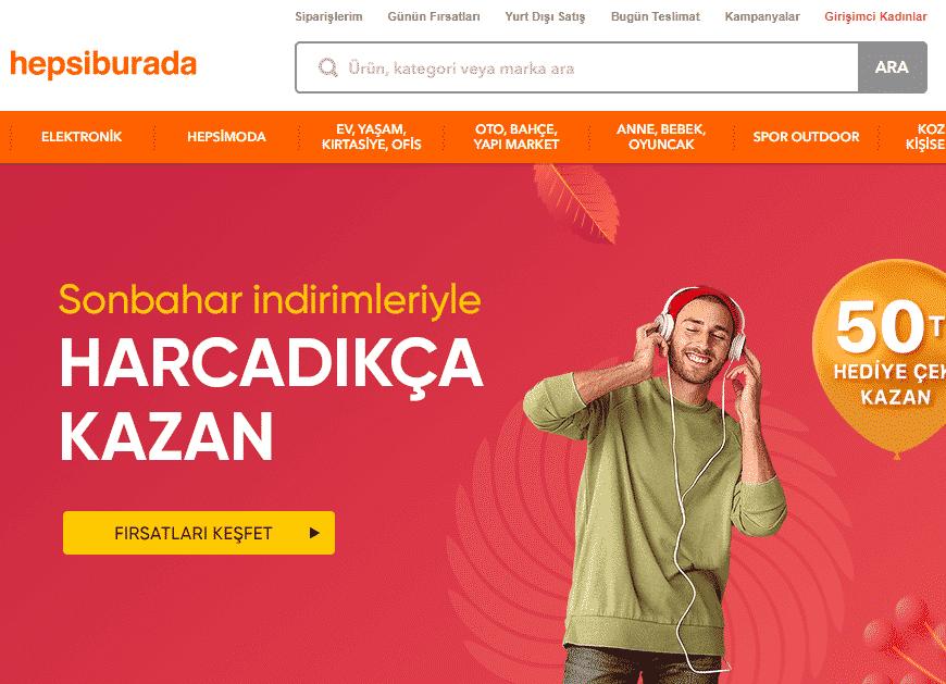 Hepsiburada - internet satış siteleri