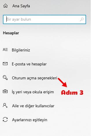 bilgisayara şifre koyma windows 10