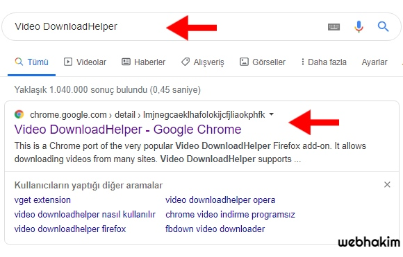 Google Chrome Video İndirme Programı