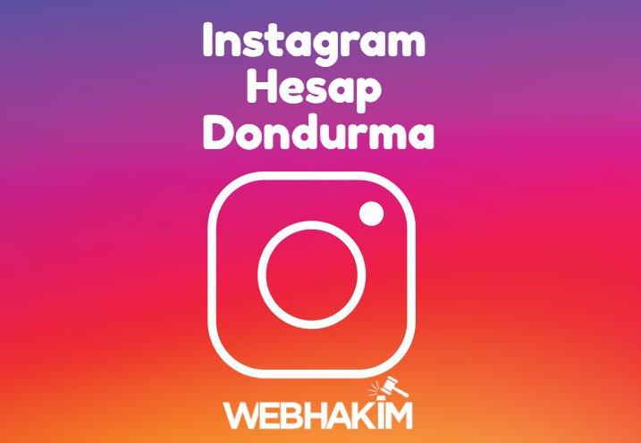 instagram hesap dondurma 1 hafta beklemeden