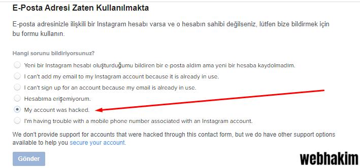 instagram hesabim calindi nasil geri alabilirim webhakim