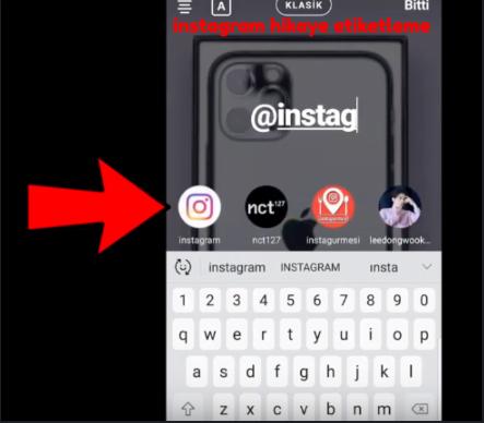 instagram hikaye etiketleme webhakim