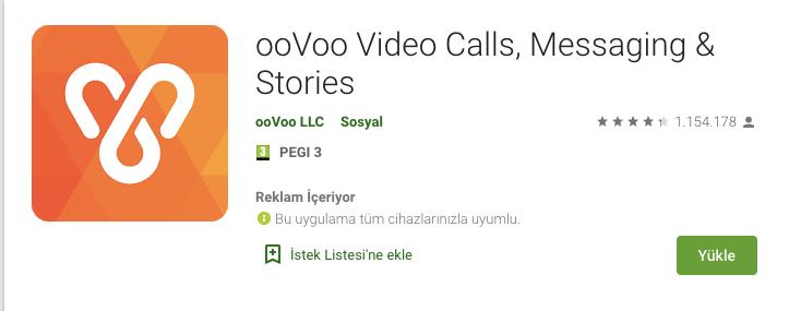 ooVoo görüntülü konuşma indir
