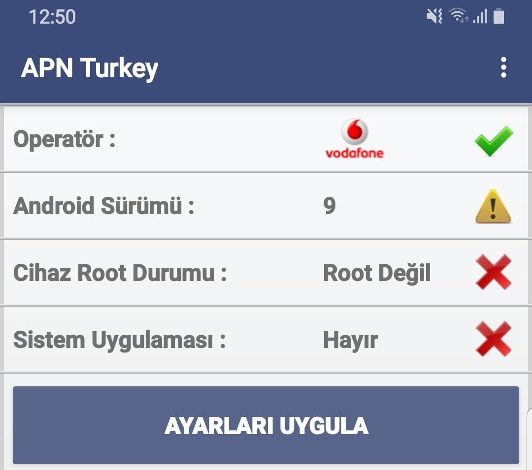 Vodafone İnternet Ayarları