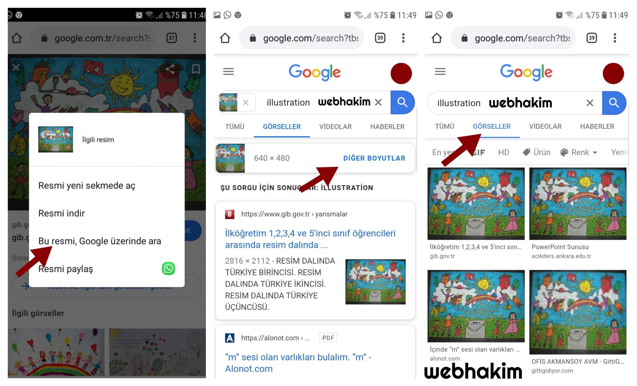 Mobilde Google Görsel Arama