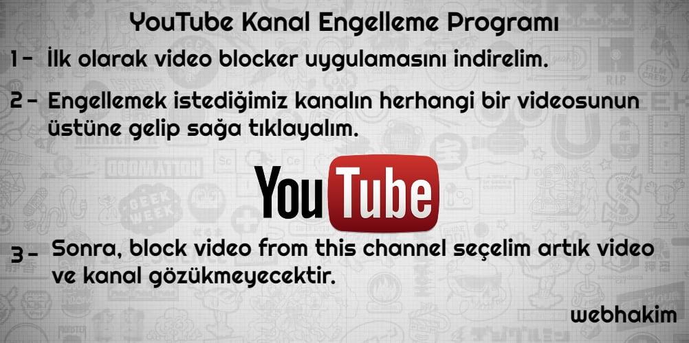 youtube kanal engelleme programi