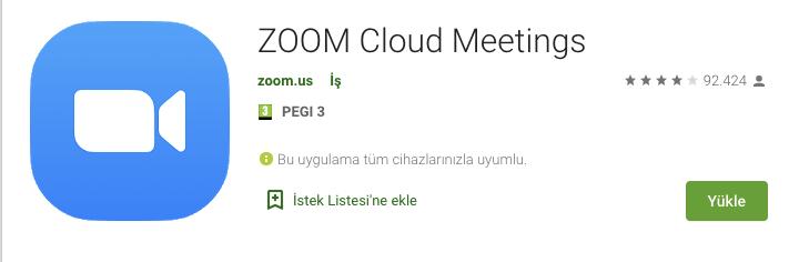zoom cloud meetings indir