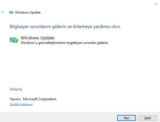 Windows Update Çalışmıyor