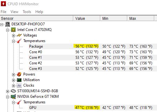 Bilgisayar Sıcaklığı Ölçme Programı