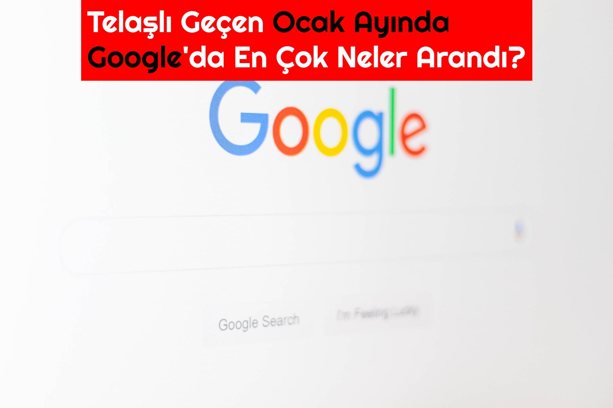 google en cok arananlar ocak 2020