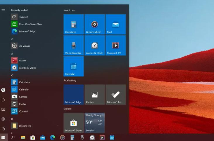 windows 10 yeni simgeler