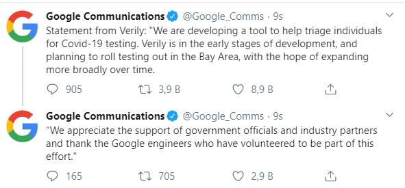 ABD Baskani google a tesekur etti