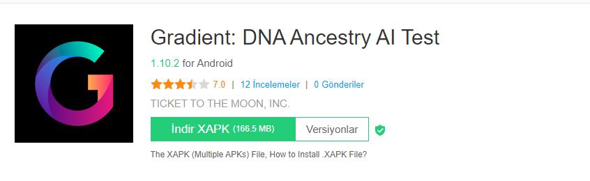 Gradient DNA Ancestry AI Test ios webhakim