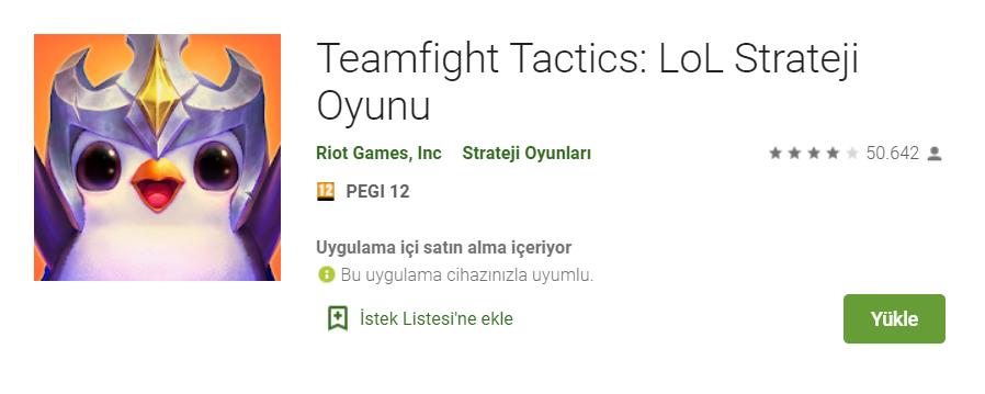 LoL Strateji Oyunu Team Fight Tactics Mobil Kısa Sürede 50.000'ni Geçti