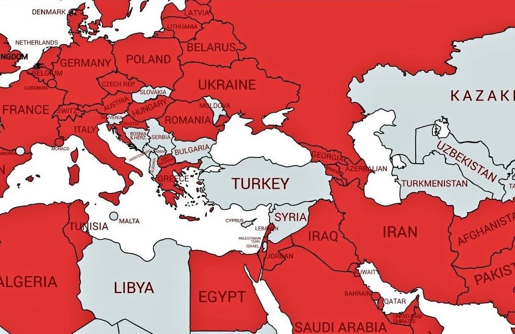 Türkiye'nin 4 Bir Yanını Saran Corona Virüs Haritası ve Sosyal Medya Tepkileri