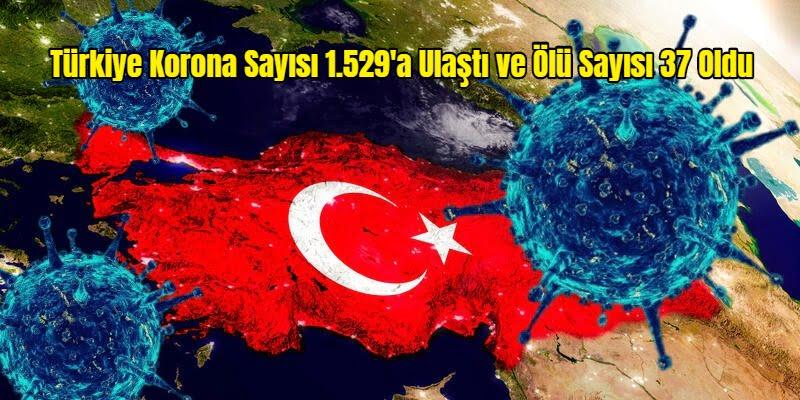 Türkiye Korona Sayısı 1.529'a Ulaştı ve Ölü Sayısı 37 Oldu