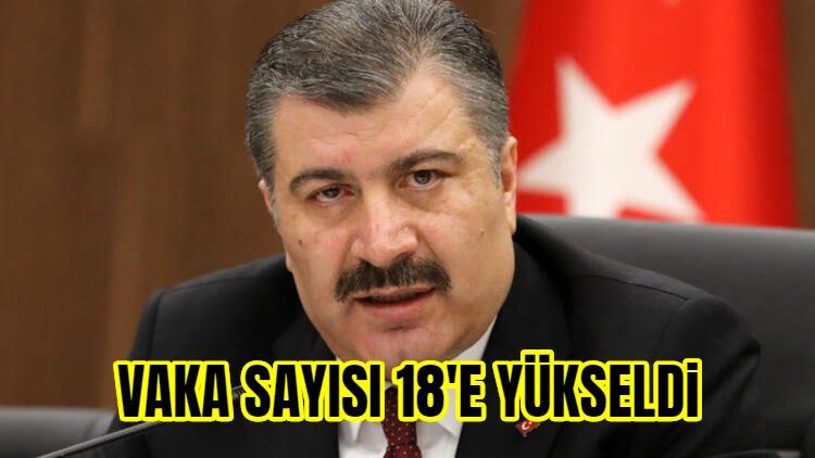 Türkiye'de Koronavirüse Yakalananların Sayısı 18'e Ulaştı