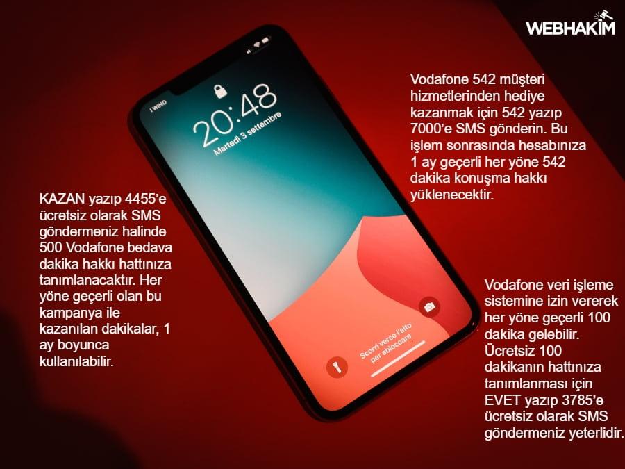Vodafone Bedava Dakika 2020