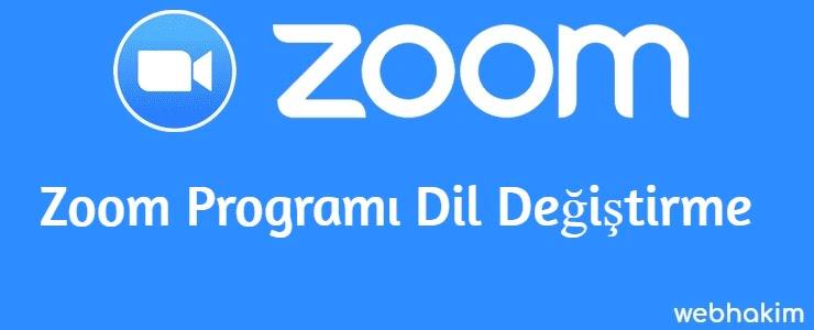 Zoom Programi Dil Degistirme