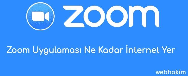 Zoom Uygulamasi Ne Kadar Internet Yer