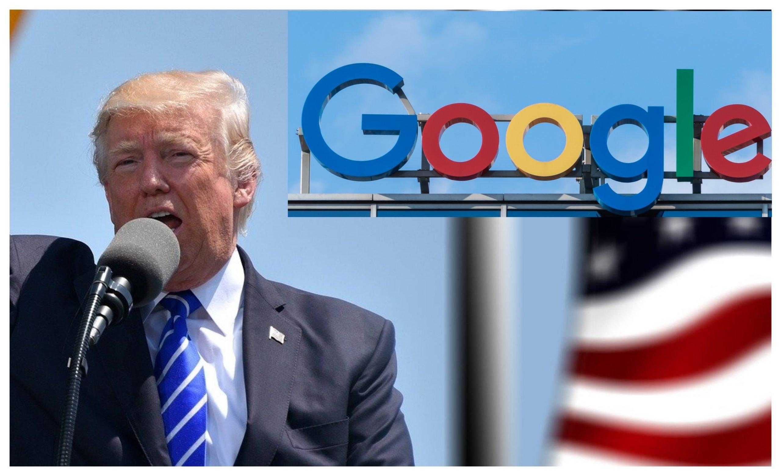 """ABD Başkanı Donald Trump """"Google'a Teşekkür Etti"""""""
