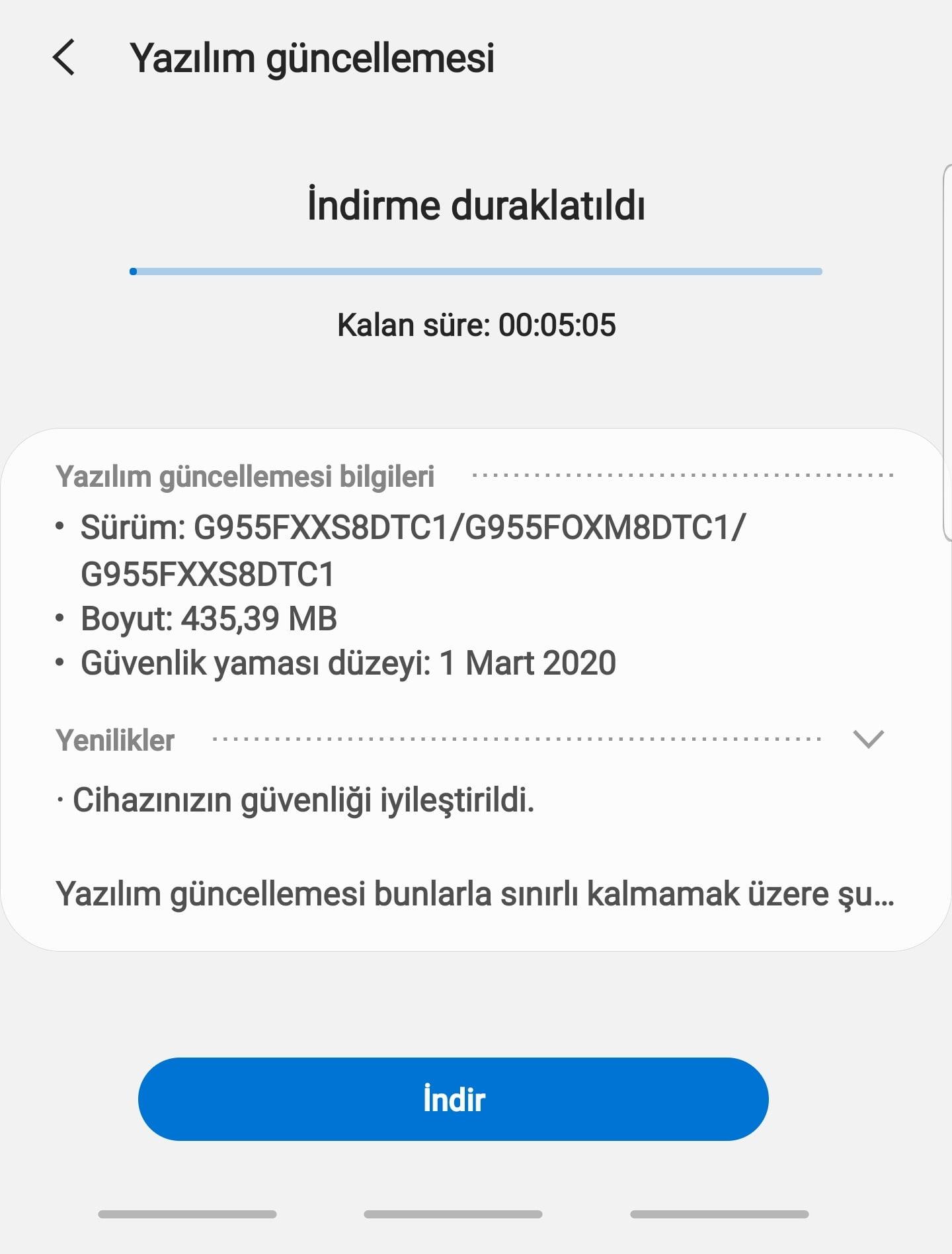 Android Sürüm Yükseltme