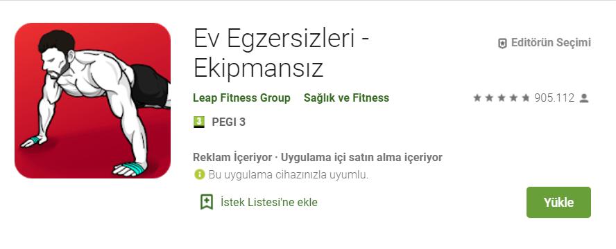 en iyi fitness uygulamas android