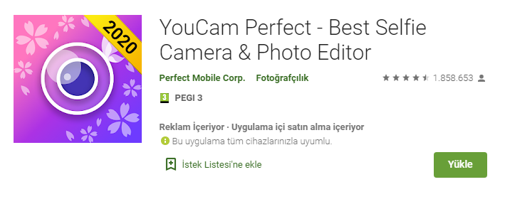 en iyi selfie kamera uygulamasi webhakim