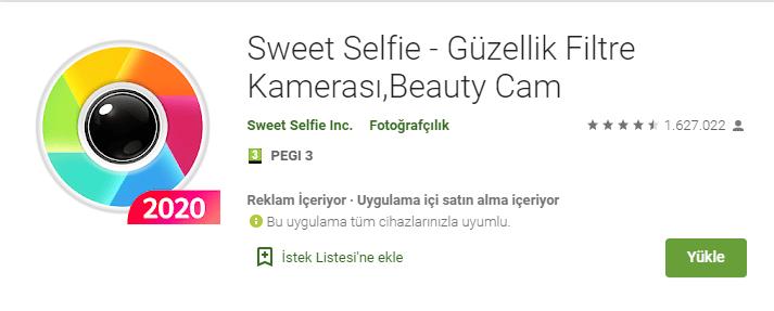en iyi selfie kamera uygulamasi