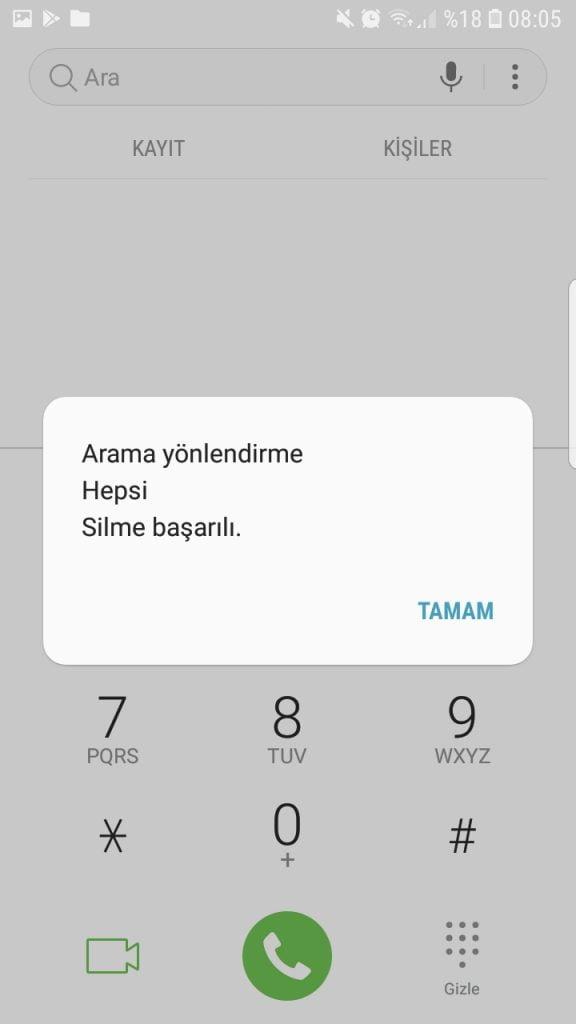 telefon yonlendirme iptal kodu