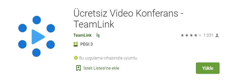 ücretsiz video konferans teamlink indir