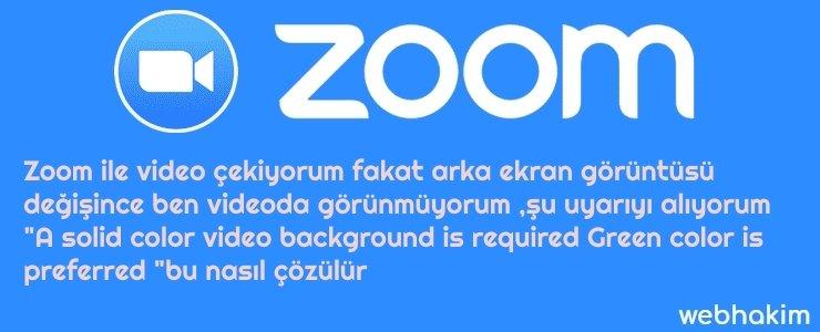zoom arka ekran çözümü