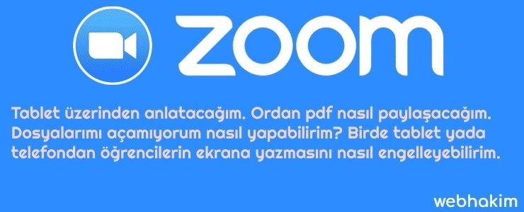 zoom pdf nasil paylaşabiliirim