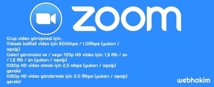 zoom sistem gereksinimleri nelerdir webhakim