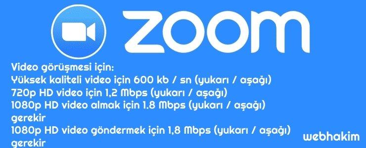 zoom sistem gereksinimleri nelerdir