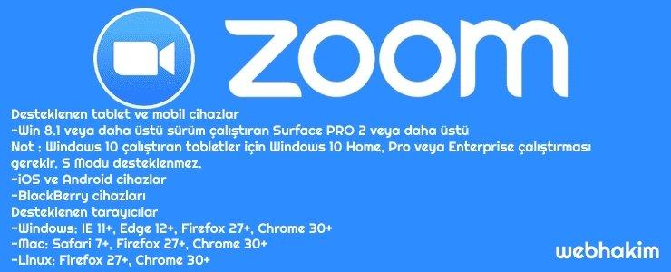 zoom sistem gereksinimleri