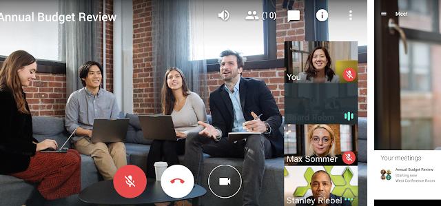 google meet hangouts indir