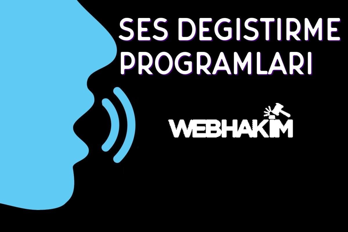 Ses Değiştirme Programı